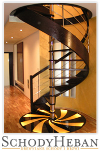Drewniane schody kręcone